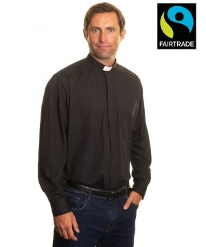 Fairtrade clerical shirts black long sleeve