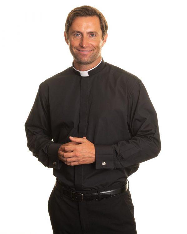 Reliant shirts black clergy shirt sales