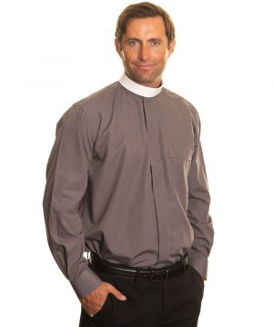 Reliant shirts grey clergy shirt sales