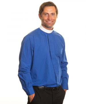 Reliant shirts royal blue clergy shirt sales