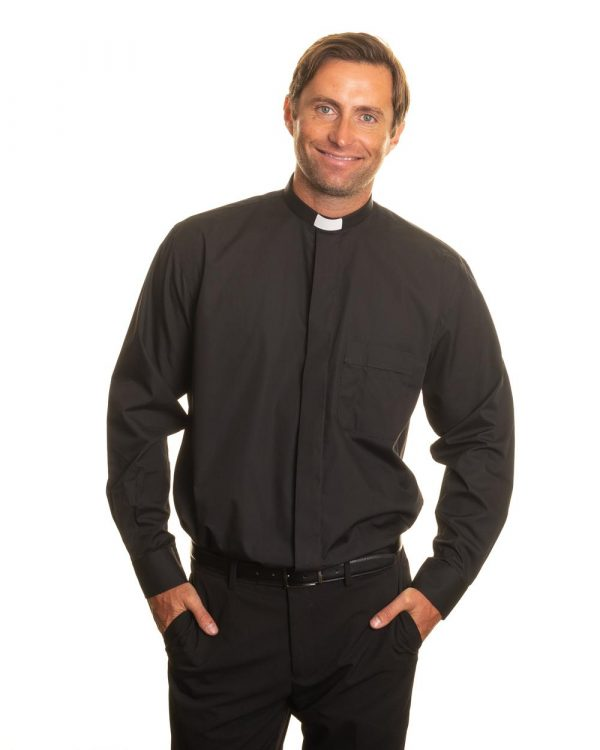 Reliant shirts Black long sleeve clerical shirts and accessories