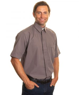 Reliant shirts grey short sleeve clerical shirts and accessories