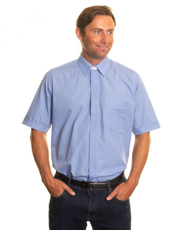 Reliant shirts blue short sleeve clerical shirts and accessories