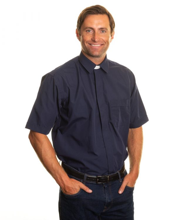 Reliant shirts navy short sleeve clerical shirts and accessories