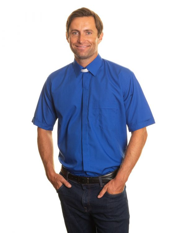 reliant shirts royal blue short sleeve clerical shirts and accessories