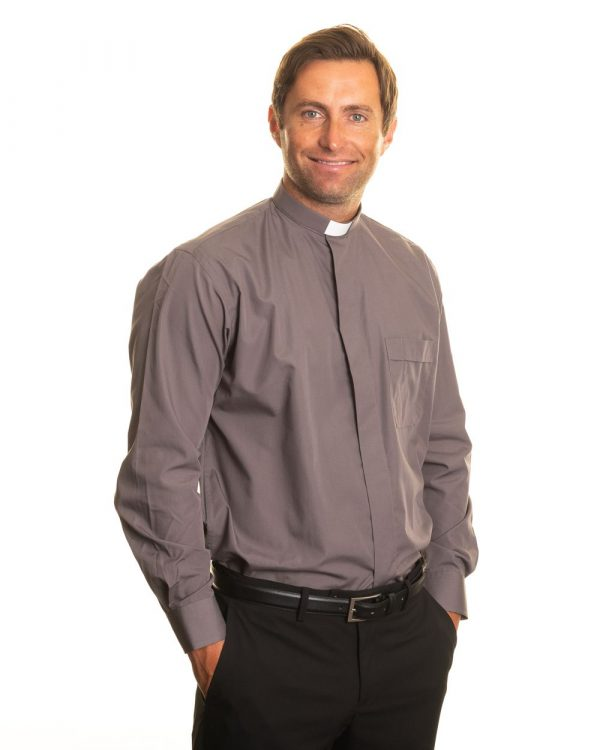 Reliant shirts grey clergy shirt sales