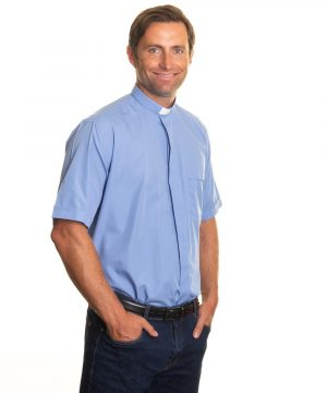 Reliant shirts Blue clergy short sleeve shirts and accessories