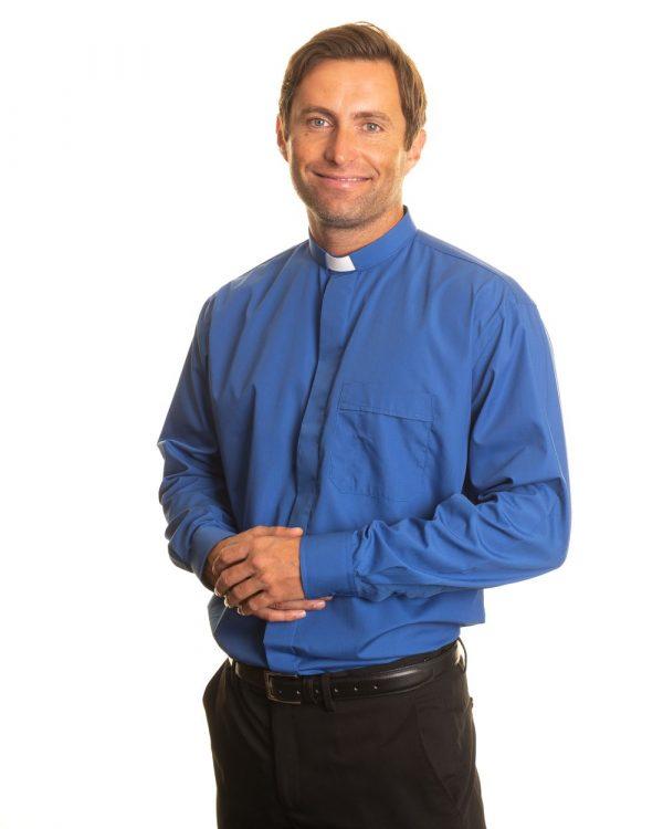 Reliant shirts royal blue clergy shirt sales