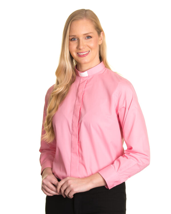 Reliant womens pink clergy shirt