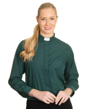 Reliant womens green clergy shirt