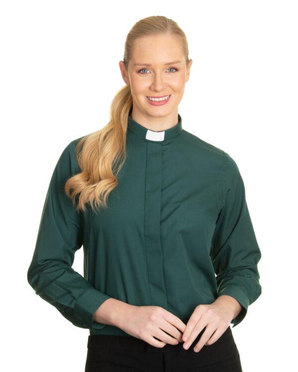 Reliant womens green clergy shirt