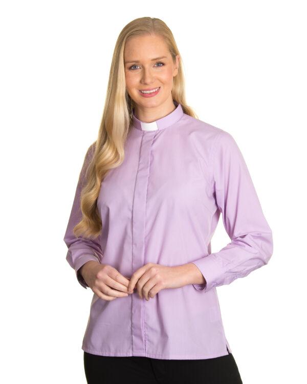 Reliant womens lilac clergy shirt