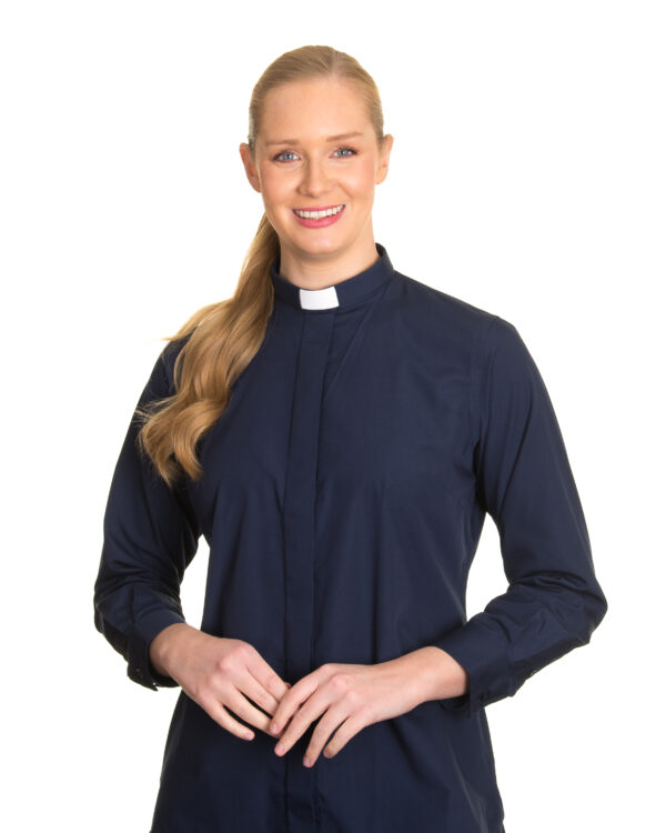 Reliant womens navy clergy shirt