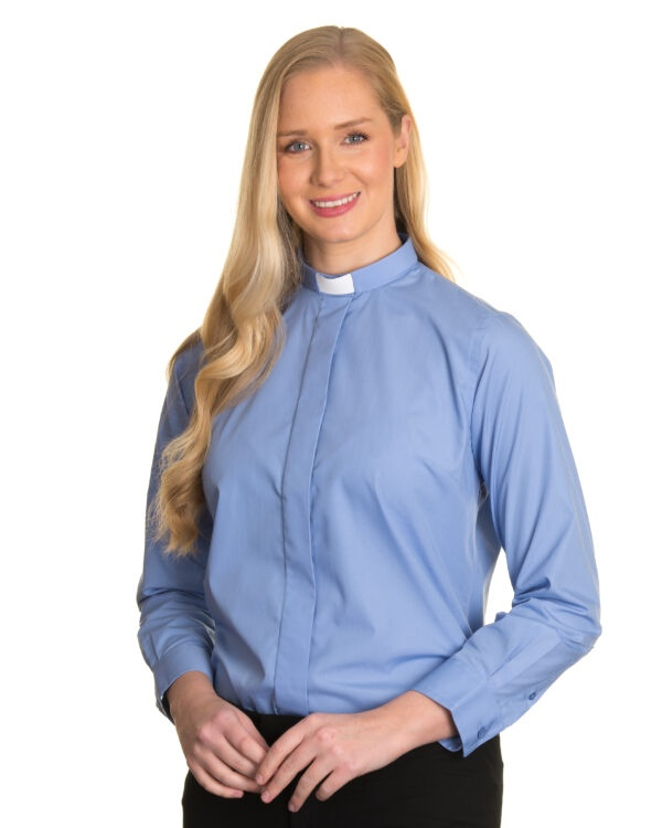 Reliant womens mid blue clergy shirt