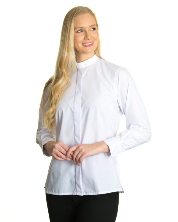 Reliant womens white clergy shirt