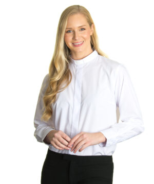 Reliant womens white clergy shirt