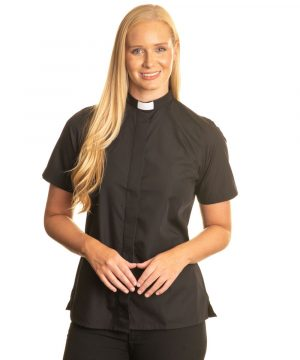 Reliant womens black clergy shirt sales