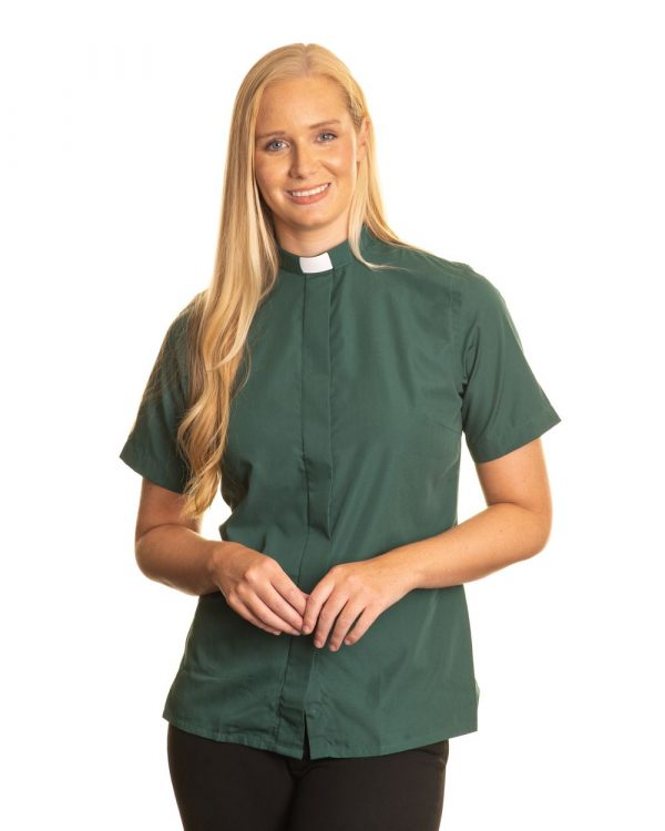 Reliant womens green clergy shirt sales