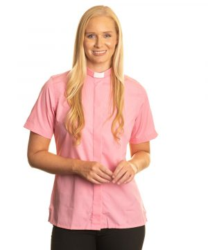 Reliant womens pink clergy shirt sales