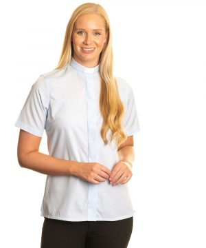 Reliant womens sky blue clergy shirt sales