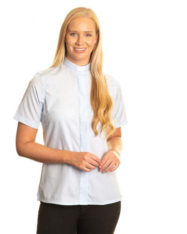 Reliant womens sky blue clergy shirt sales