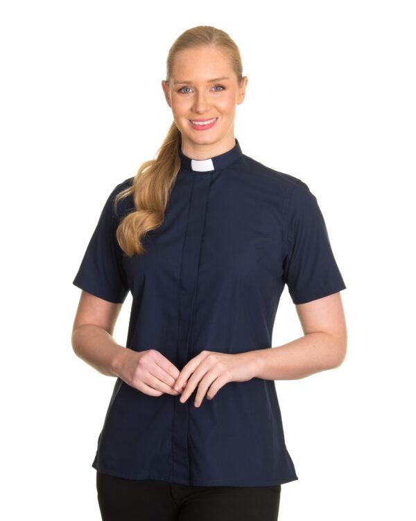 Reliant womens navy clergy shirt